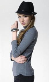 High collar slim bottoming shirt
