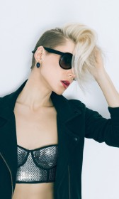 Black punk rock coat