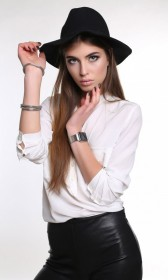 Non-Iron cotton long sleeves solid white shirt