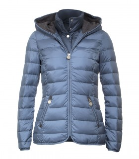 Women's lightweight rain jacket with detachable hood
