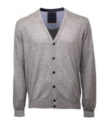 Men's slim fit knitted v neck cardigan
