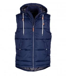 Pocket zip up hooded vest