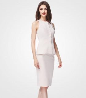 Two piece work midi dress
